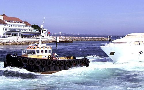 vessel charter polmear tow-for-sunseeker poole haven entrance