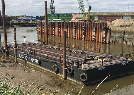 JML 30 flat top pontoon barge