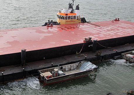 JML 50 flat top pontoon barge