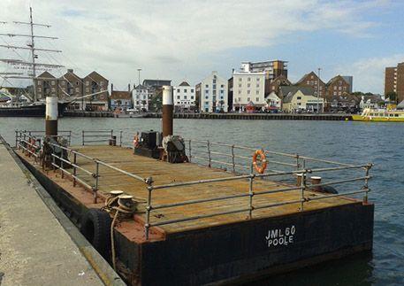 JML 60 flat top pontoon barge
