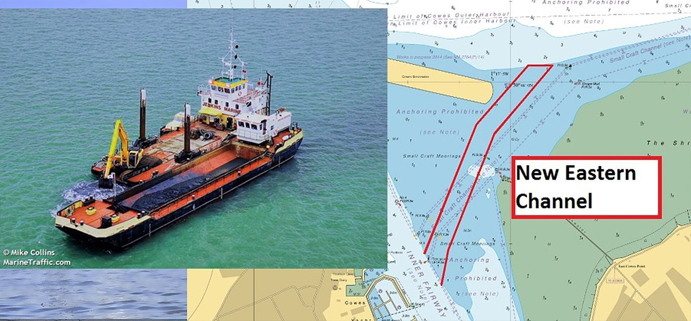 dredging a New eastern Channel to Cowes