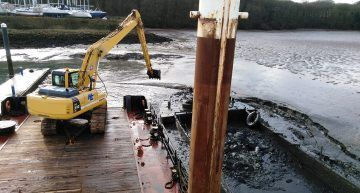 Dredging at Woolverstone