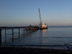 Doreen Dorward workboat alongside Totland Pier