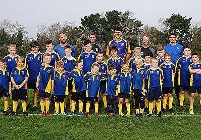 Jenkins Marine sponsers Poole Rugby Club Juniors