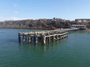 Totland Pier with all 17 foundation piles installed by Jenkins Marine