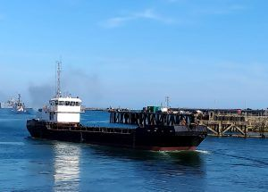 NAB at work Haslar Marina dredging site